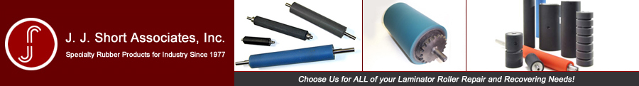 Laminator Roller Repair, Custom Rubber Covered Rollers, Replacement OEM Rubber Rollers, Laminator Rollers, Laminated Roller Repair, New Rubber Roller Products, Narrow Web Rubber Rollers and Recovered Rubber Rollers